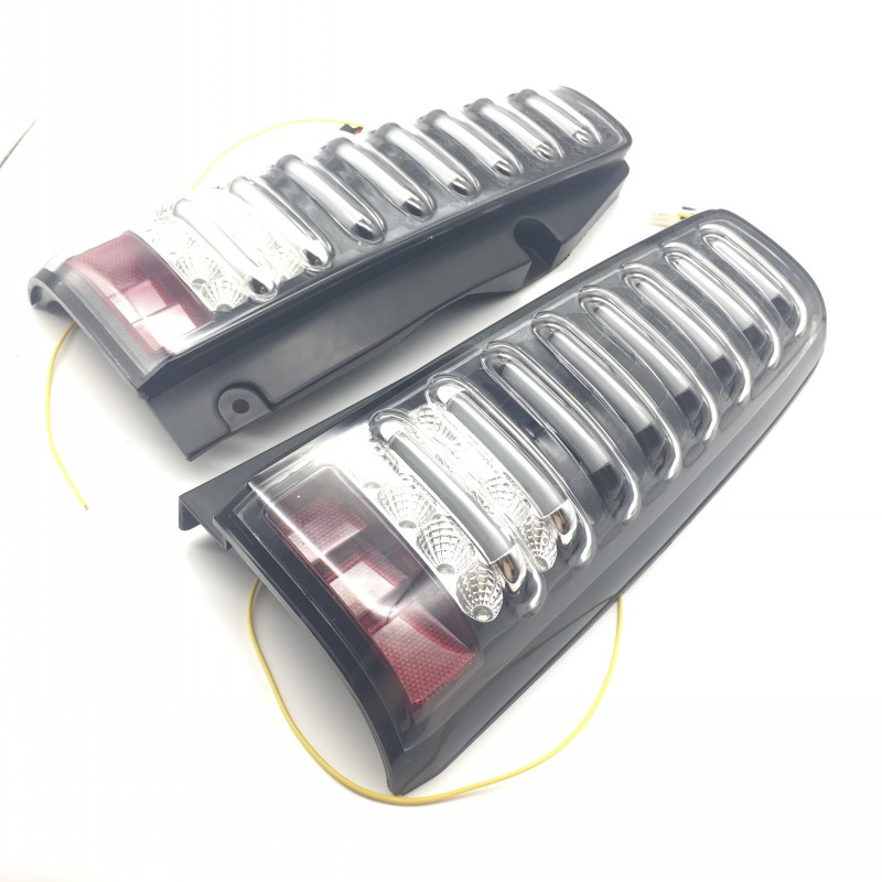 Off-Road Taillight Car Styling For Suzuki Jimny JB43 LED Tail Lights Assembly Brake Light Reversing Light Rear Lights car styling tail lights for toyota highlander 2015 led tail lamp rear trunk lamp cover drl signal brake reverse