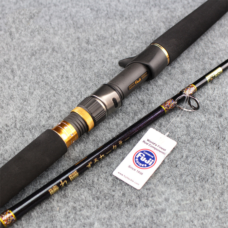 Hu Ying 2018 New 1.8m 2 Segments fishing rod M Power line wt.20-100lb lure wt.100-300g Carbon Spinning Casting Lure Fishing Rod стоимость