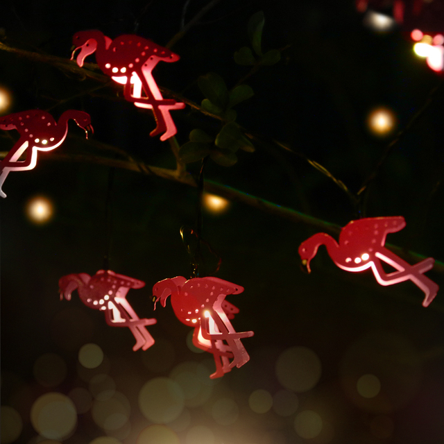 5 modes indooroutdoor decoration christmas metal flamingo shape 5 modes indooroutdoor decoration christmas metal flamingo shape led string lights waterproof battery powered led fairy mozeypictures Image collections