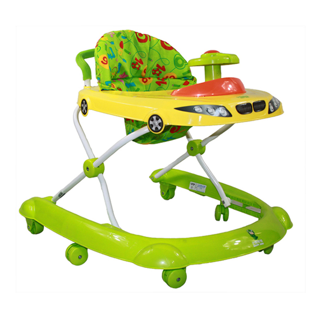 Producto caliente Andadores Multifuncional Anti Vuelco en forma de U Multifuncional Andador Con Música Juguetes Bebé Placa de Paso de Coches