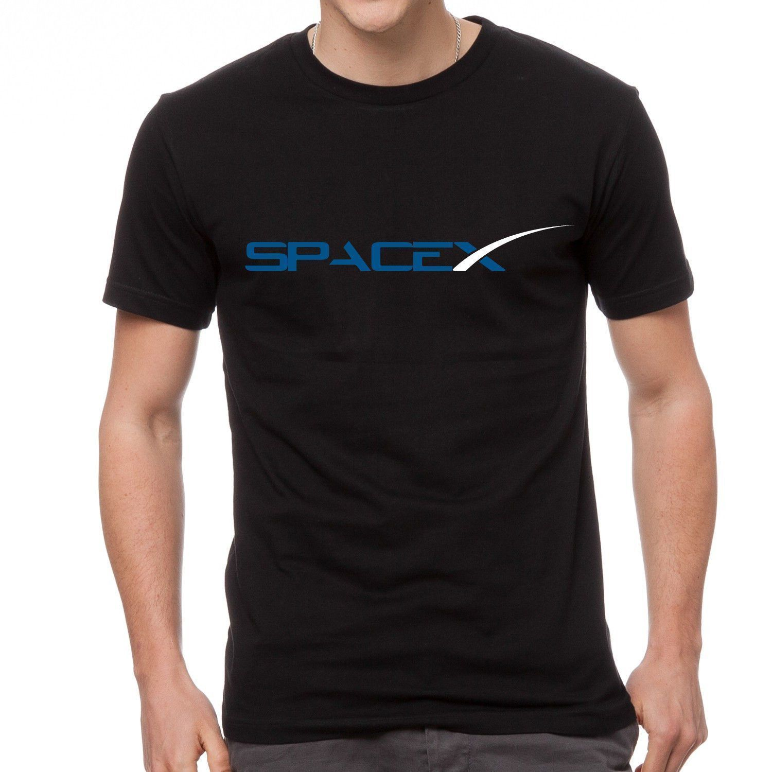 Space X Elon Musk Fan Space Agency Logo T-shirt Print T Shirt Summer Style Hot Ment Shir ...