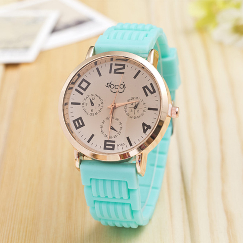 Hot selling price drop silicone watch women fashion three eyes quartz watch high quality women wristwatches new relogio feminino 2017 new fashion tai chi cat watch casual leather women wristwatches quartz watch relogio feminino gift drop shipping