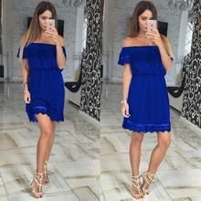ФОТО 2018 summer new women's clothes,multicolor sweet lace sexy off-the-shoulder dress,fashionable and casual. hot selling.