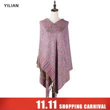 hot deal buy yilian brand classic print paisley weaving cotton women head scarf 2018 warm multicolor fashion women scarf shawl ll006