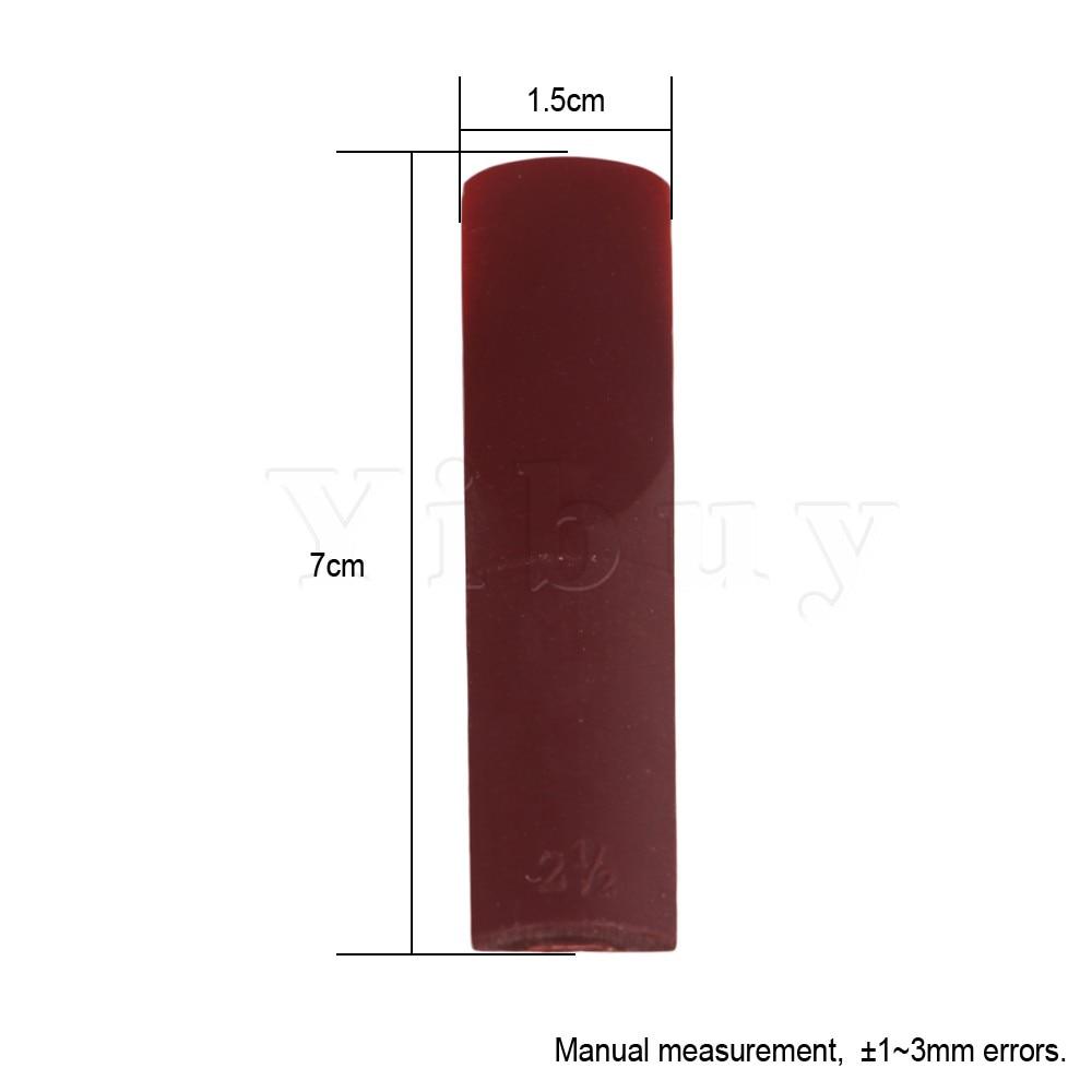 Yibuy 15 x 70 x 1mm Burgundy Color ABS Plastic Saxophone Reeds Hardness 2.5 for Alto Saxophone Beginner