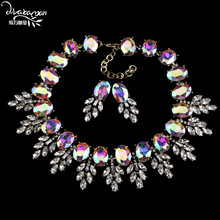 Dvacaman Brand 2016 Fashion Wedding Party Jewelry Sets Women Indian Bridal Statement Necklace&Earrings Accessory Love Gifts O40