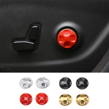 SHINEKA Car Styling Seats Waist Adjust Button Trim Cover Kits for Jeep Cherokee 14-16/ for Grand Cherokee/for Dodge Journey