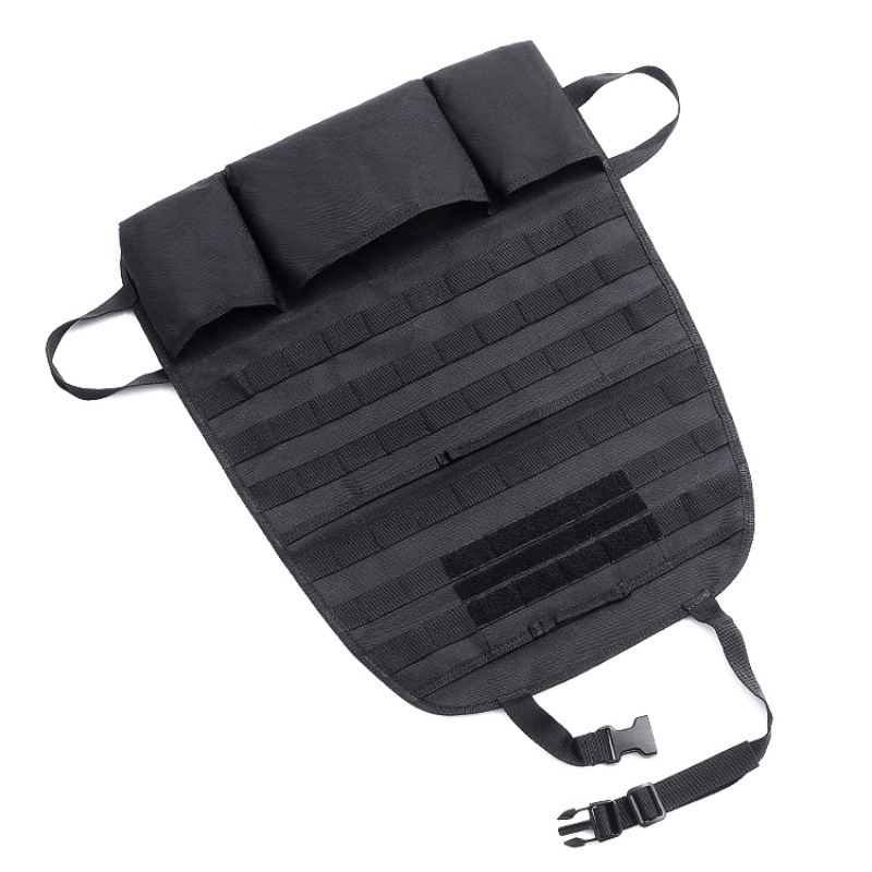 Image 4 - Tactical Pouch MOLLE Car Seat Back Organizer Backpack Vehicle Panel Car Seat Cover Protector Universal Fit Hunting Accessories-in Pouches from Sports & Entertainment