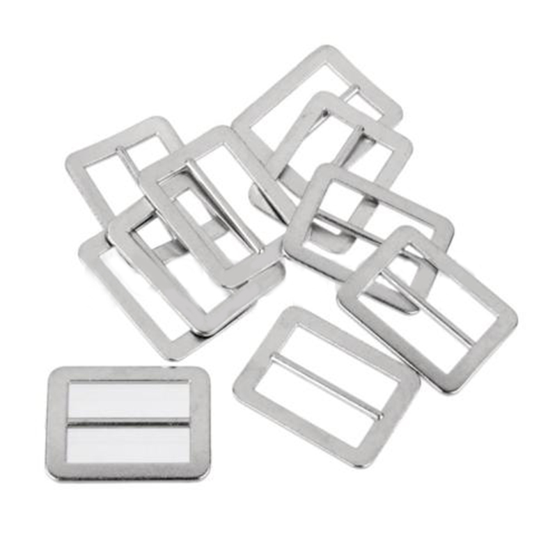 10x Adjustable Handmade  Metal Rectangle Ring Buckle Backpack DIY Accessories