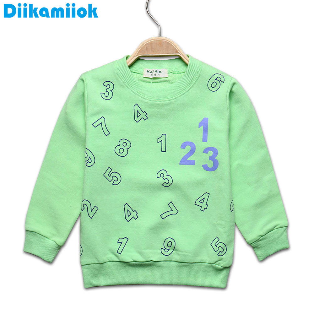 Sale 0-24 month boys t-shirt kids Tees baby boy girl t shirts long sleeve tees cotton number pattern jacket children clothes