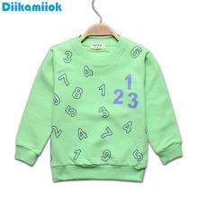 Распродажа, хлопковая Футболка для мальчиков детские футболки, футболка для маленьких девочек футболки с длинными рукавами, куртка с рисунком цифр Весенняя детская одежда от 0 до 24 месяцев