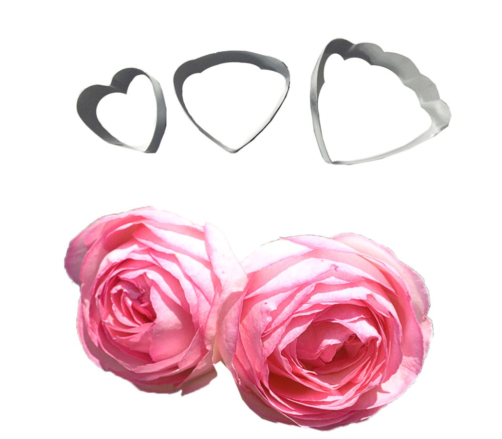3PCS Ranunculus Flowers Shape For Cake Cupcake Decorating,Cookie Cutter,Fondant Cake Tools F023