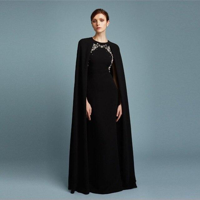 9662cbd52 Moda Vestido de Fiesta Largo Negro Vestidos de Baile 2017 de La Sirena  Vestidos de Noche