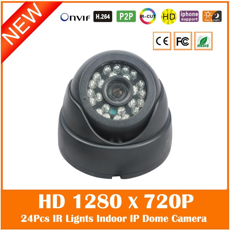 1.0mp 720p Dome Ip Camera Plastic 24pcs Infrared Night Vision Surveillance Security Cctv Cmos Motion Detect Freeshipping Hot cmos 800tvl bullet camera infrared light night vision cctv outdoor surveillance security plastic mini webcam freeshipping