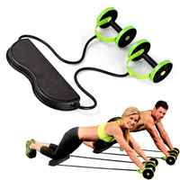Gym Muscle Exercise Equipment Home Fitness Equipment Double Wheel Abdominal Power Wheel Ab Roller Gym Roller Trainer Training