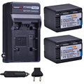 2x3600 mAh VW VBK360 VW VBK360 VBK360 Batterie und Ladegerät für Panasonic HDC HS80 SD40 SD60 SD80 SDX1 SDR H100 H85 h95 HS60 HS80-in Digitale Batterien aus Verbraucherelektronik bei