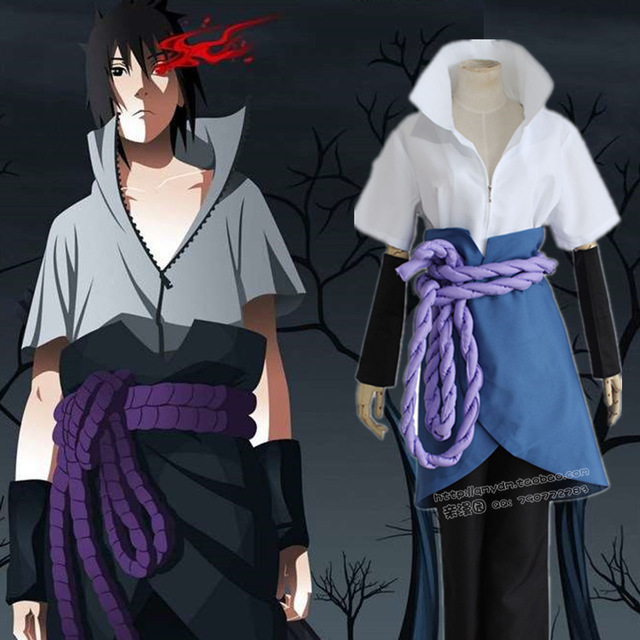 Anime Narutos Ninja Sasuke Uchiha Cosplay Costume Halloween costumes Party Gift Any size Custom-made