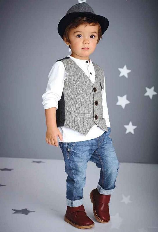 2015 Spring New Baby Boy Long Sleeve t shirt + pants+Waistcoat suit boy Kids Clothing Set free ...