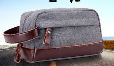 5d6d2b7dc617 New men s hand bag oil wax canvas wash bag retro man bag clutch leather  wrist bag