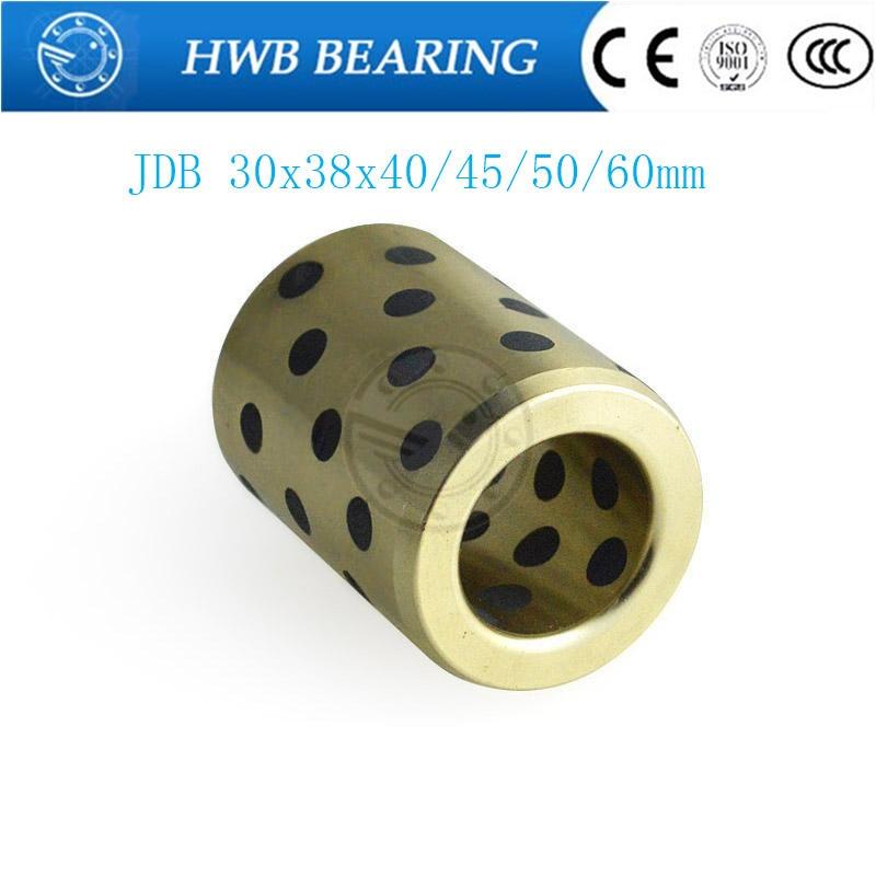 linear graphite copper set bearing copper bushing oil self-lubricating bearing JDB303840 JDB303845 JDB303850 JDB303860 jdb 406080 copper sleeve the same size of lm12 linear solid inlay graphite self lubricating bearing