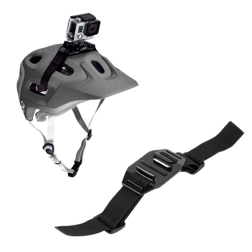 Adapter Mount-Holder Helmet-Strap Gopro 3-Camera-Accessories Hero Belt Black Sport New