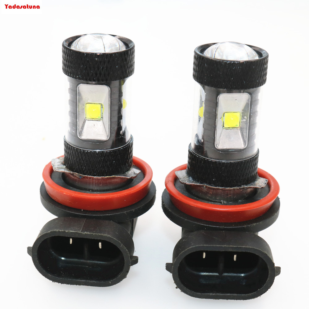 For Sale!!!2pcs 6000K n White Powered by 6 <font><b>Cree</b></font> Chips <font><b>LED</b></font> <font><b>H8</b></font> H11 H9 <font><b>LED</b></font> Bulbs For Fog Lights or Daytime Running Lights DRL image