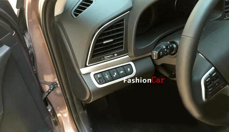 interior headlight lamp switch button cover trim 1pcs for hyundai elantra avante 2016 2017 car. Black Bedroom Furniture Sets. Home Design Ideas