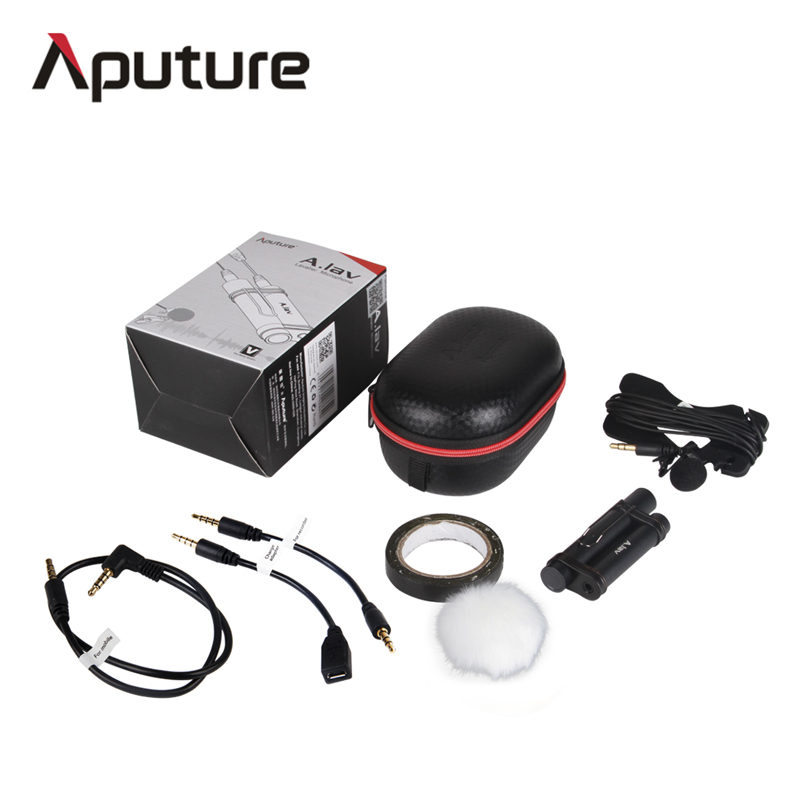 Aputure A lav professional omnidirectional lavalier microphone used with mobile recorder other equipment for recording