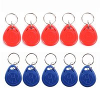 EM4100 125KHz RFID EM ID Card Tag Token Key Chain Keyfob Read Only 100 Pcs Red