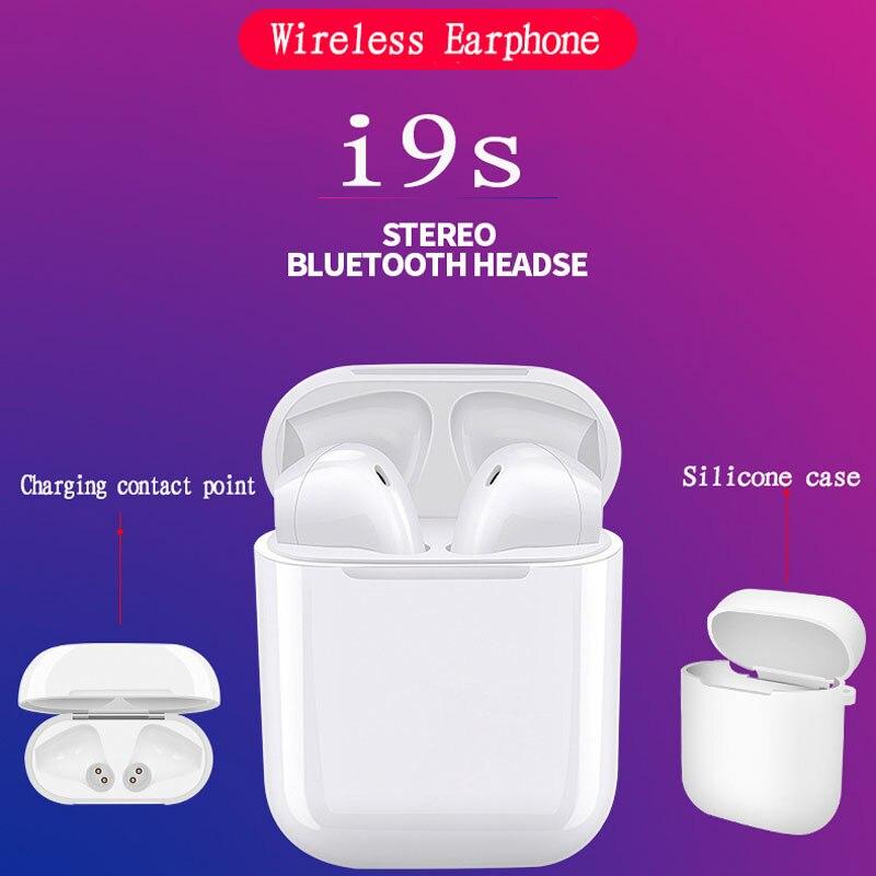 Più nuovo mini i9S TWS doppio Auricolari Senza Fili Protable Bluetooth Auricolare Auricolari per IPhone X 8 7 Plus. Android Telefoni ifans