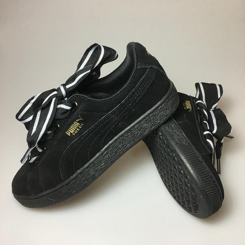 2018Original PUMA Basket Heart Patent Women's Sneakers Suede Satin Badminton Shoes size 36 39