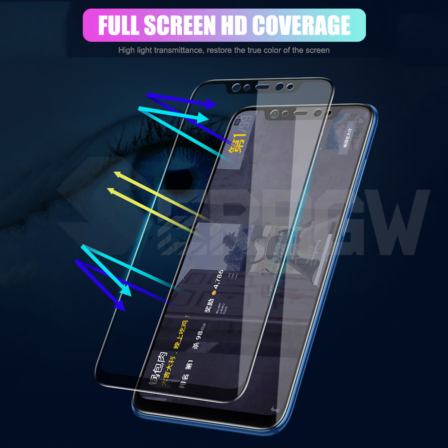 15D Full Cover Protective Glass For Xiaomi Mi 8 9 SE Mi8 Pro Mi9 A1 A2 Lite Pocophone F1 Max 3 2 Tempered Screen Protector Film