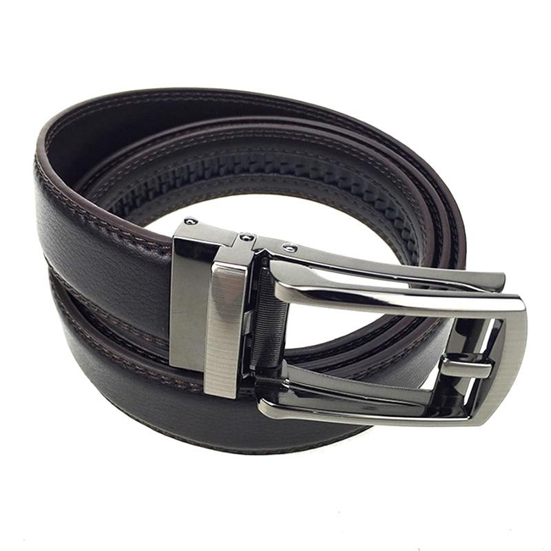 Black/Brown plain men's leather belt 4