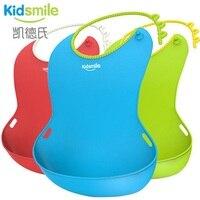 Kidsmile 2016 new design Baby bibs waterproof silicone feeding baby saliva towel waterproof aprons Baby Bibs