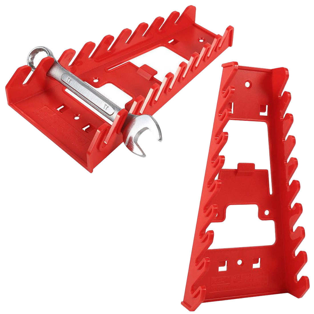 Standard Organizer Holder Tools Plastic Spanner Rack Wrench Holder Storage Rack Rail TrayStandard Organizer Holder Tools Plastic Spanner Rack Wrench Holder Storage Rack Rail Tray