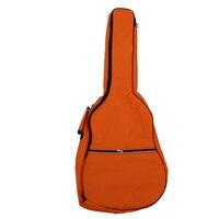 2Pcs Gig Bag Case Soft Padded Straps For Folk Acoustic Guitar 39 40 41 Inch Orange