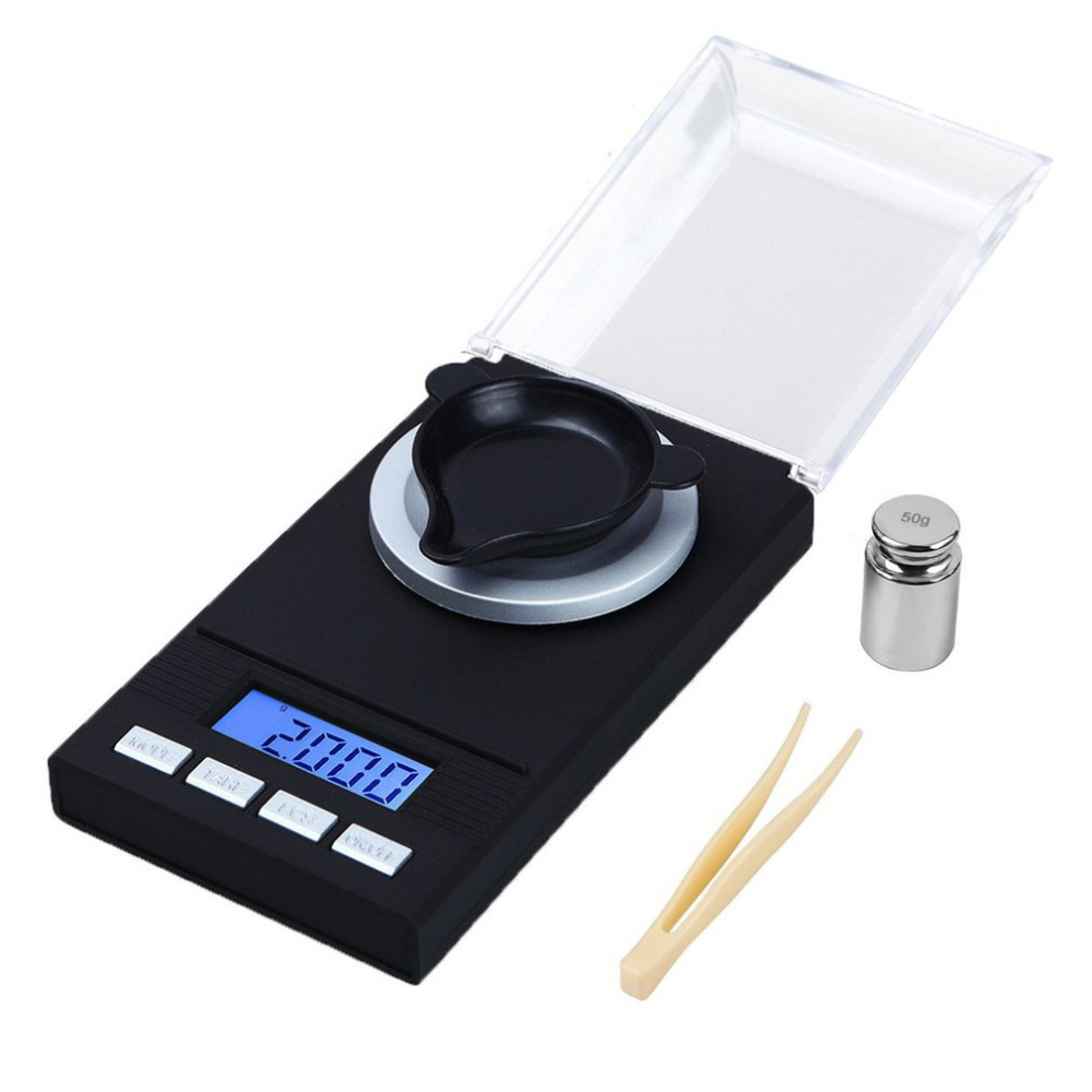 Digital Milligram Gram Scale Jewelry Weight High Precision 20g/50g 0.001g Balance Diamond Electronic Weighing Scale спот paulmann 60038