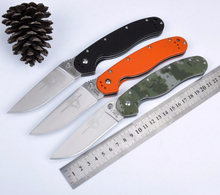 Outdoor adventure folding Knife AUS-8 blade,G10 hand Traning Survival Camping knives Hunting EDC Utility Tools