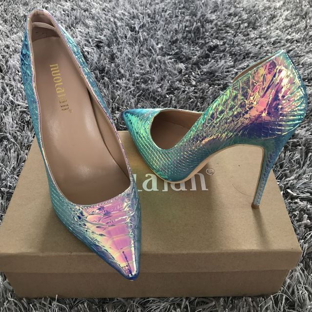 Women Shoes Stiletto 12cm/10cm/8cm High Heels Women Pumps Snake Printing Leather Pointed Toe Ladies Party Wedding Woman Shoes