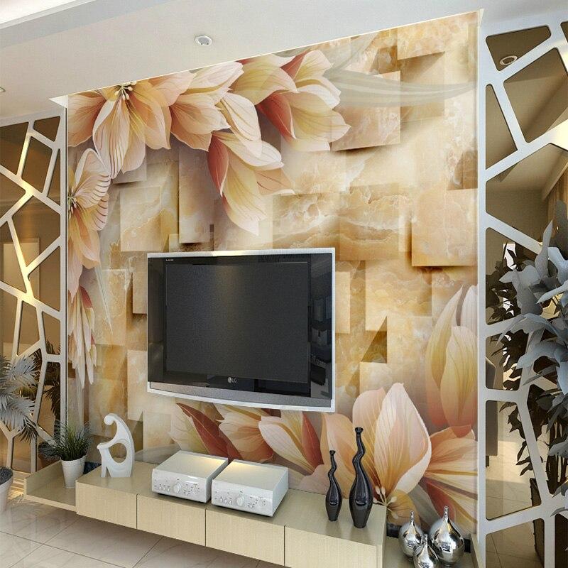 10 61 38 De Réduction Gros Fond Tv Fleur Rose Et Bois Papier Peint Mural Pour Salon Fond Photo Mural Sticker Mural Fresque Murale In Fonds D écran