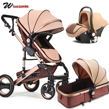 Wisesonle baby stroller 2 in 1 stroller lying or dampening folding light seasons Russia free shippin