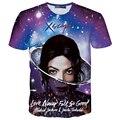 Verão dos homens das mulheres novidade 3d camiseta hip hop michael jackson/justin bieber t-shirt impressão yeezus tshirt homme