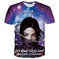Verano de las mujeres de los hombres 3d novelty t shirt hip hop michael jackson/justin bieber imprimir camiseta yeezus camiseta homme