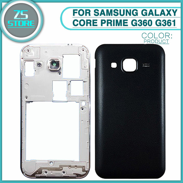 reputable site 90cb4 2979f US $4.35 |new G360 Full Housing Case For Samsung Galaxy Core Prime G360  G361 Battery Back Cover battery door Rear cover + Middle Frame -in Mobile  ...
