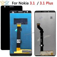노키아 3.1 LCD 디스플레이 및 터치 스크린 스크린 디지타이저 어셈블리 교체 노키아 3.1 플러스 LCD + 도구