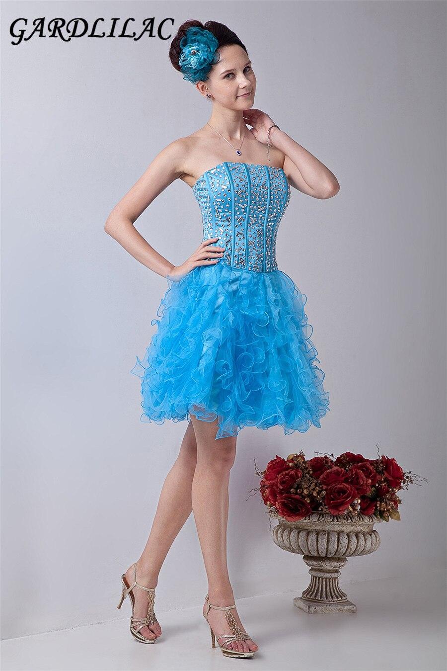 2017 echt bild blau tüll ballkleider kurze abendkleider abendkleider online partykleider vestidos de festa party dress