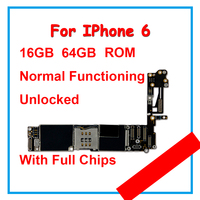 Motherboard For Apple iPhone 6 16GB 64GB 100% Unlocked Mainboard With Chips With IOS Logic Board With