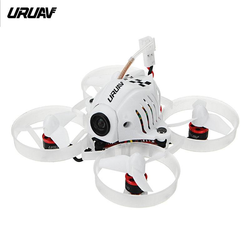 URUAV UR65 65mm FPV Racing Drone BNF Crazybee F3 controlador de vuelo OSD 5A Blheli_S CES 5,8g 25 MW VTX RC Quadcopter del pequeño 6x 7x