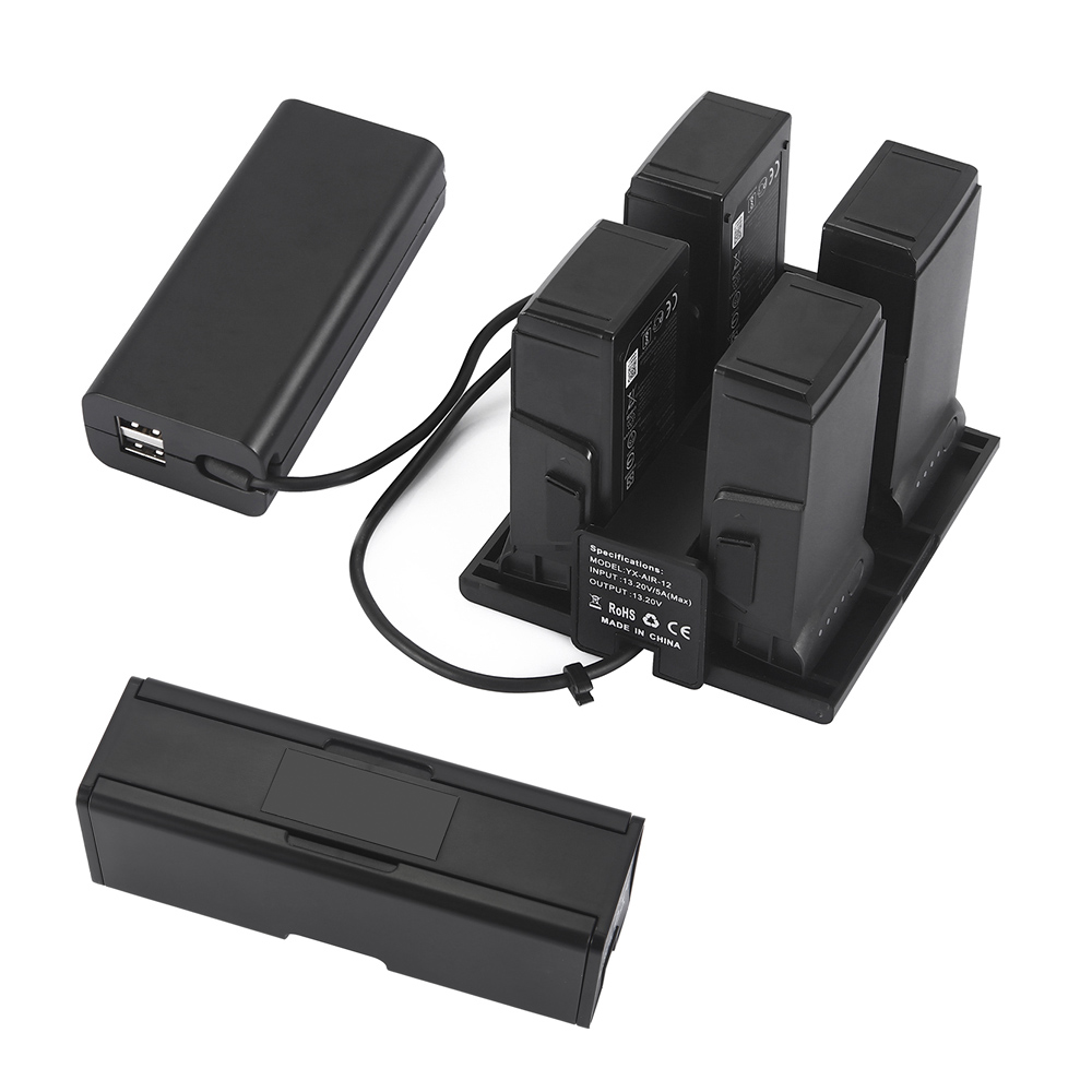 1 to 4 Mavic Air Charger Intelligent Flight Battery Charging Hub For DJI Mavic Air Parallel Charging Board Smart Battery Manager аккумулятор dji mavic air intelligent flight battery dji mavic air part9