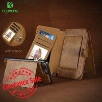 FLOVEME For IPhone 7 Wallet Case Bag Retro Luxury Genuine Leather Pouch Case Detachable Wallet Handbag